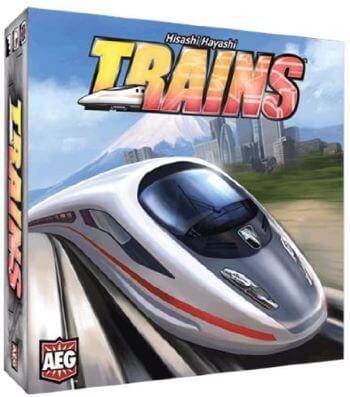 trains board game box cover
