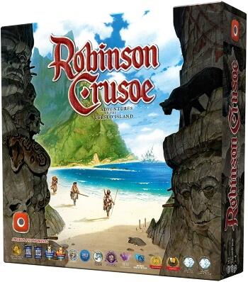 Robinson Crusoe Adventures of the Cursed Island board game box cover