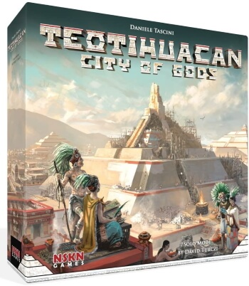 Teotihuacan City of Gods board game box cover