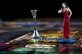 lady figure on board for board game
