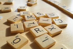 letters for scrabble close up