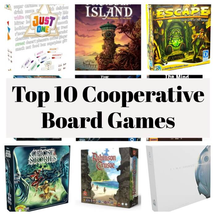 best cooperative board games collage