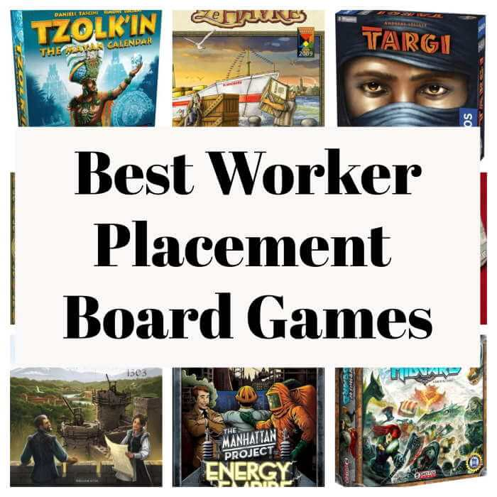 best worker placement board games collage