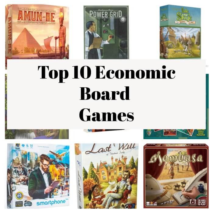 economic board games collage